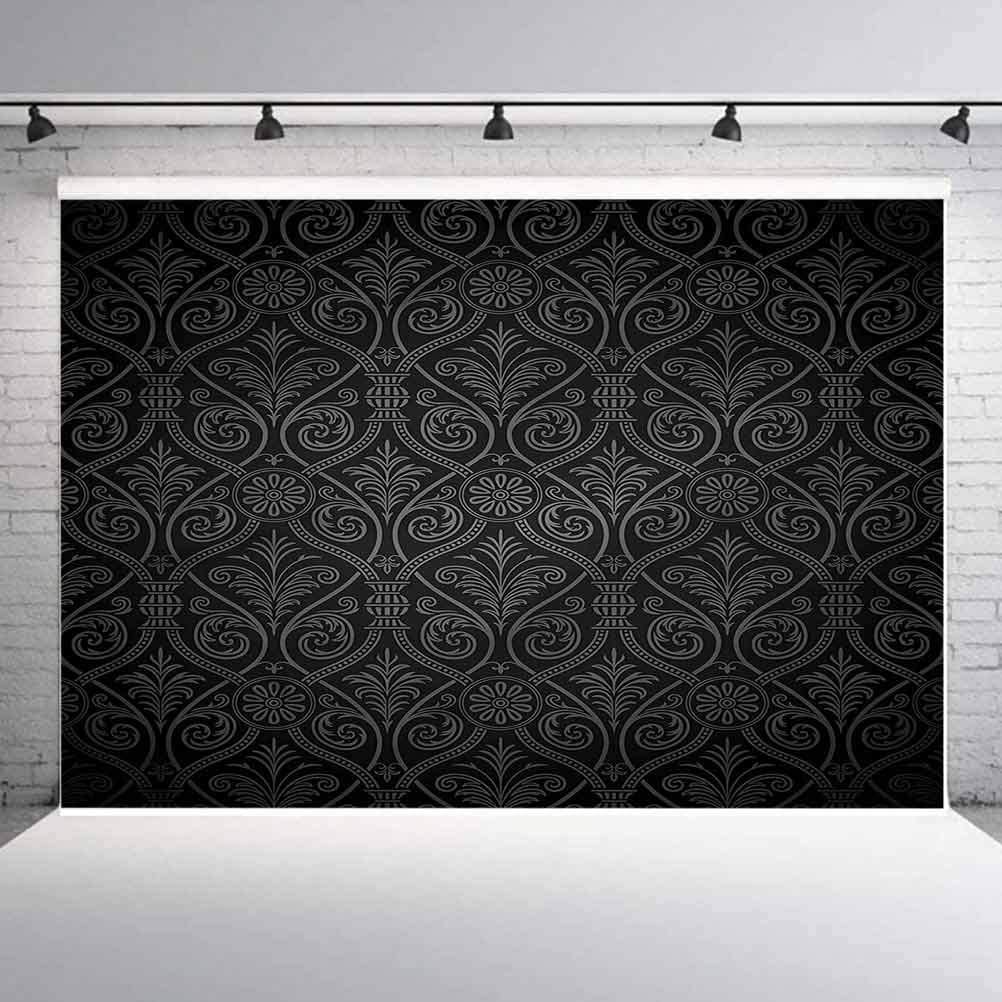 7x7FT Vinyl Wall Photography Backdrop,Dutch,Rhombuses and Flowers Background for Baby Birthday Party Wedding Graduation Home Decoration