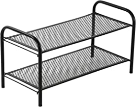 NHR Collapsible, Foldable Metal 2 Tier Shoe Rack