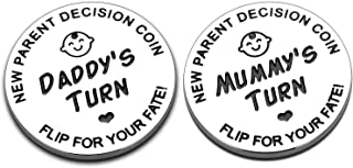 New Baby Gift for Parent Mom Daddy Funny Decision Coin for Women Men Pregnancy Mothers for First Time Moms Dads Mummy to B...