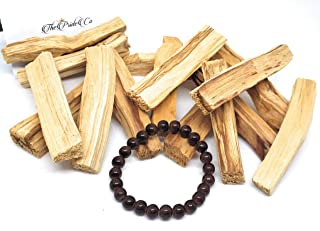 Authentic Palo Santo Holy Stick/Wood (15 Pack) Used to Purify, Cleanse and Relieve Stress with Free Glass Bead Bracelet