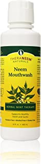 TheraNeem Neem Mouthwash, Herbal Mint | Freshens Breath, Supports Healthy Gums and Teeth, Vegan, Great Mint Taste | 16oz