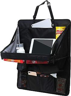 IN 汽车收纳器后座,适用于儿童和幼儿 - 平板电脑支架,自动座椅靠背?;?,踢垫和汽车收纳器(1 包黑色)