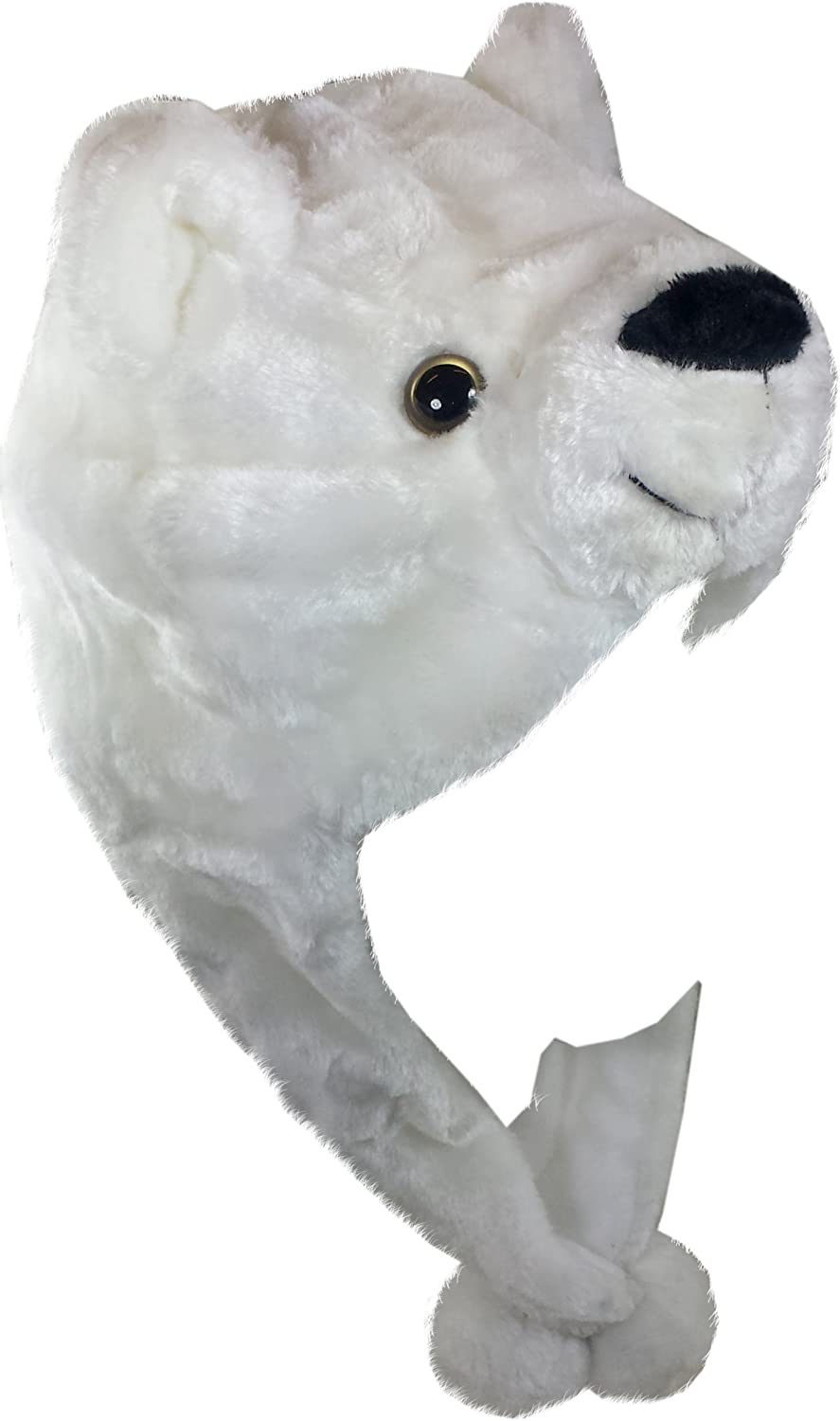 lowest price Critter Caps Outlet sale feature Plush Animal Hat with That T Ear Under Button Flaps