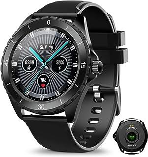 ELEGIANT Smart klocka, fitnessspårare för män och kvinnor, fitnessarmband, sportklocka, 1,3-tums pekskärm, pulsmätare, söm...