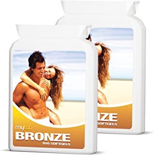 MyTan Bronze Tanning Pills | Twin Pack Discount | Over 12-Week Supply | Beta Carotene Tanning Tablets Without Sun
