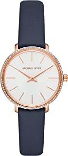 Michael Kors Pyper Women's White Dial Leather Analog Watch - MK2804