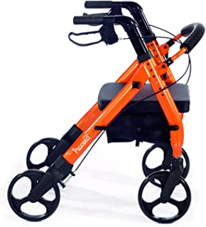 Comodità Piccola (Petite) Heavy Duty Rollator Walker with Comfortable 15