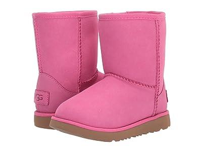 UGG Kids Classic Short II Waterproof (Toddler/Little Kid) (Pink Azalea) Girls Shoes
