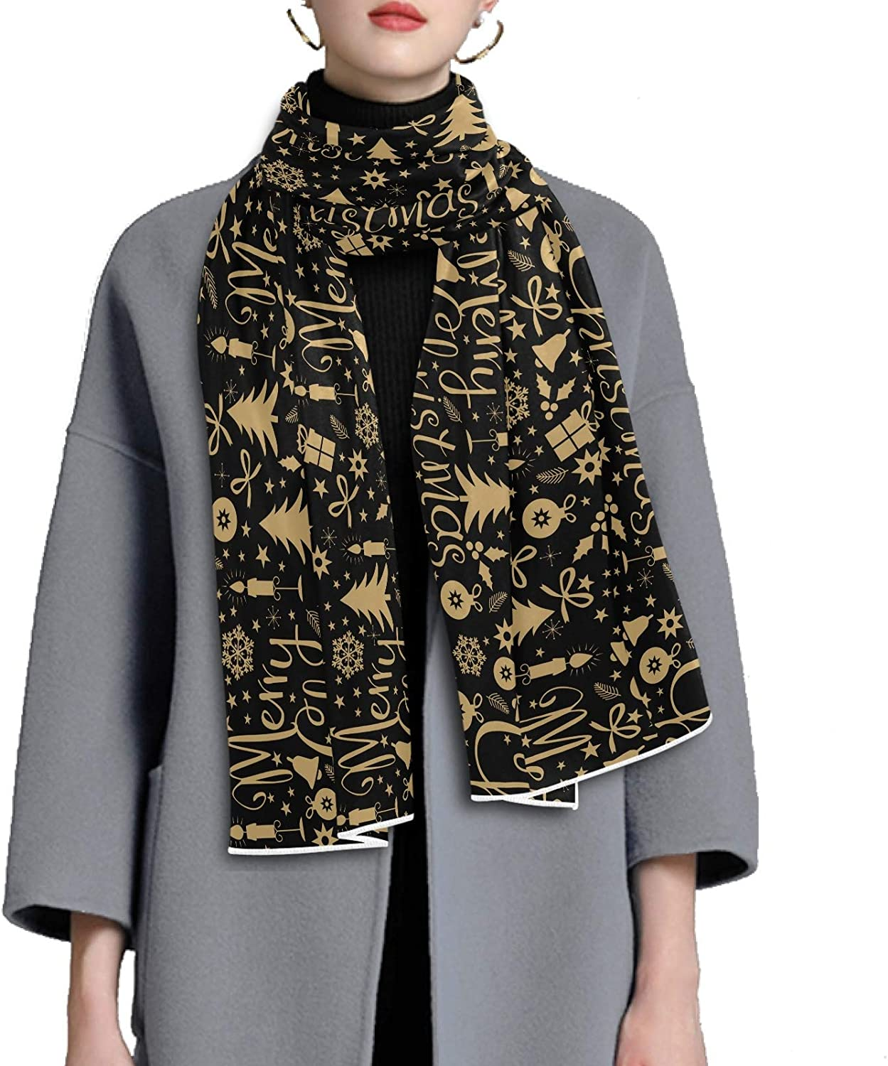Scarf for Women and Men Christmas Deer Blanket Shawl Scarves Wraps Soft Thick Winter Large Scarves Lightweight