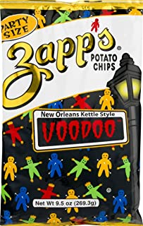 Zapp's New Orleans Kettle Style Voodoo Potato Chips 9.5 oz. Party Size Bag (4 Bags)