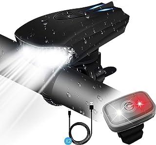 comprar comparacion STATOR Luz Bicicleta,Luz Bicicleta LED Recargable USB con 400 Lúmenes IPX5 Impermeable, Luz Bicicleta Delantera y Trasera ...