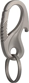 TISUR Titanium Carabiner Key Holder Anti-Lost Quick Release Heavy Duty Bottle Opener Car Key Chain