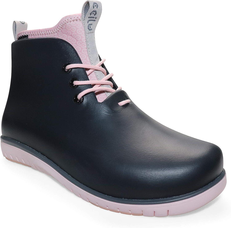 Ccilu Women's Panto Pola Waterproof Ankle Rain Boots