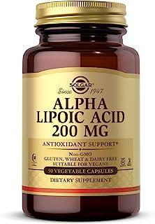 Solgar Alpha Lipoic Acid 200 Mg, 50 Vegetable Capsules