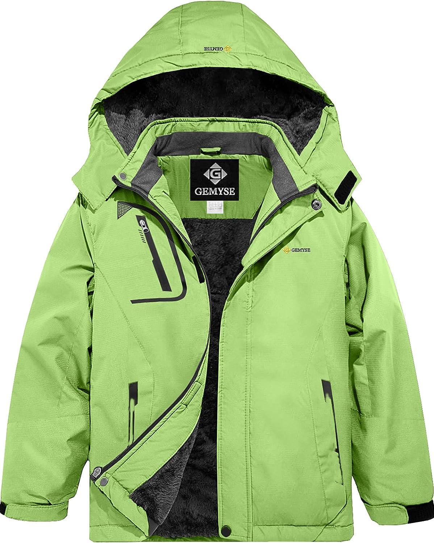 GEMYSE Boy's Waterproof Ranking TOP11 Ski Snow Jacket Winter Windproof Fleece Super sale period limited