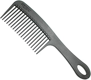 Chicago Comb Model 8 Carbon Fiber, Made in USA, Anti-static, Detangling & Shower comb, adds Lift & Volume, 8.5 inches (21....