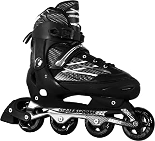Scale Sports Men's Adjustable Inline Skates 8-11 Sizes for Adult Men Ladies Youth