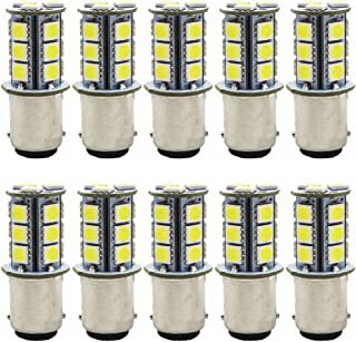 JAVR - Pack of 10-6500K White 1142 BA15D LED Bulbs 5050 18-SMD Replacement Lamps for 12V Interior RV Camper Trailer Lighting Boat Yard Light Tail Bulbs