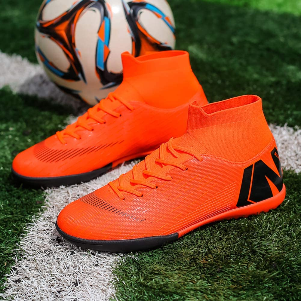 High Tops Ankle Boots Women Turf Men Size Black Binbinniao CR Soccer Boots Indoor TF Turf Cleats Boys Messi Outdoor Soccer Shoes