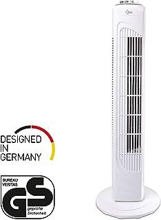 SUNTEC ventilador de torre CoolBreeze 7.400 TV [74 cm de altura, 3 velocidades, oscilante, temporizador de 2 horas, 45 W]