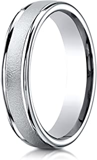 Palladium 4mm Comfort-Fit Wired Polished Round Edge Carved Design Wedding Band Ring for Men & Women