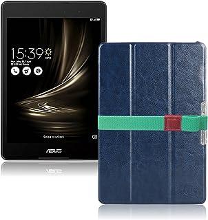 LOE(ロエ) ASUS ZenPad 3 8.0 Z581KL タブレット ケース 保護フィルム付 (ネイビー)