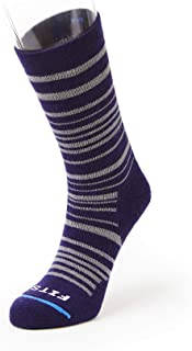 FITS Medium Hiker - Crew: Essential Hiking Socks, Eggplant/Titanium, XL