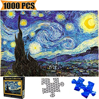 Jigsaw Puzzles 1000 Pieces Starry Night Vincent Van Gogh Artwork Art for Teen Adult Grown Up Puzzles Large Size Toy Games Educational Gift Jigsaw Puzzle 1000 PCS Home Decor (Starry Night)