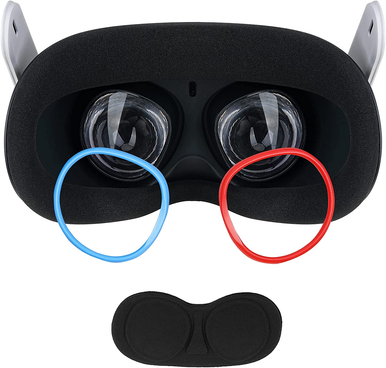 Anti-Scratch Lens Protector Rings, Silicon Protector Accessories for Oculus Quest 2/Quest/Rift S/Go Protect Quest Lens from Myopia Glasses Scratching