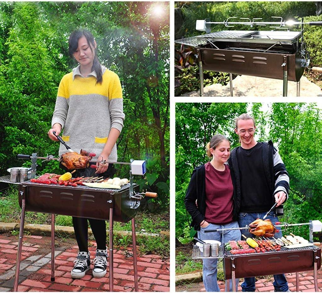 RKY Barbecue, Maison portable en plein air for plus de 5 personnes épaissis Outils Barbecue au charbon Barbecue à charbon / - / (Color : A) E