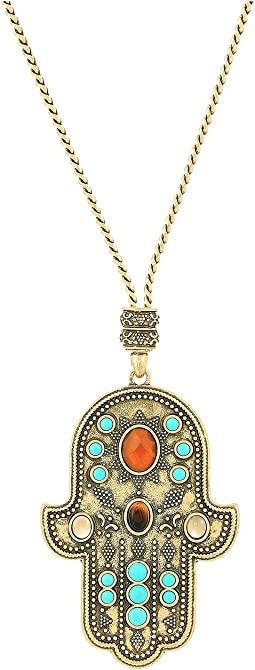Lucky Brand - Hamsa Pendant Necklace