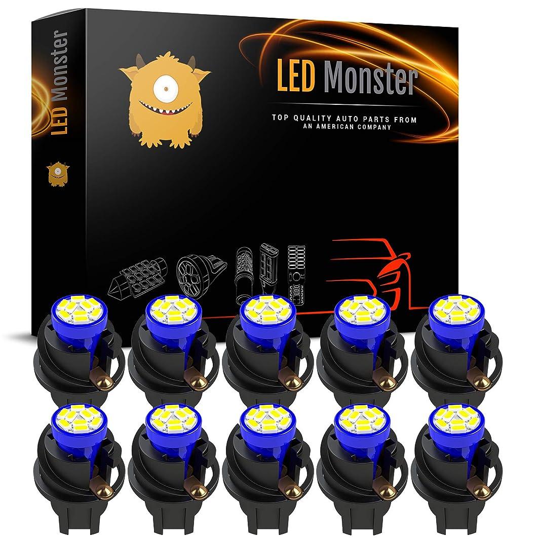 LED Monster T10 194 LED Light bulb 168 LED Bulbs Bright Instrument Panel Gauge Cluster Dashboard LED Light Bulbs Set 10 T10 9 SMD 3014 LED Bulbs with 10 Twist Lock Socket Blue