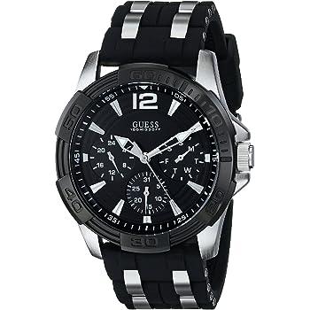 ゲス GUESS Men's U0366G1 Black Multi-Function Sporty Watch with Silver Interlinks 男性 メンズ 腕時計 【並行輸入品】