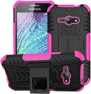 Galaxy J1 Ace Case,Samsung Galaxy J1 Ace Case,EMAXELER Creative Hybrid Case for Samsung Galaxy J1 Ace,Heavy Duty Rugged Dual Layer Case with kickstand for Samsung Galaxy J1 Ace--Pink