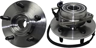 New Front 4x4 5-Lug Wheel Hub and Bearing Assembly Set w/ABS - [00-02 Ford Expedition 4x4 w/M-14 Bolts] - [00-02 Navigator 4x4 w/M-14 Bolts]