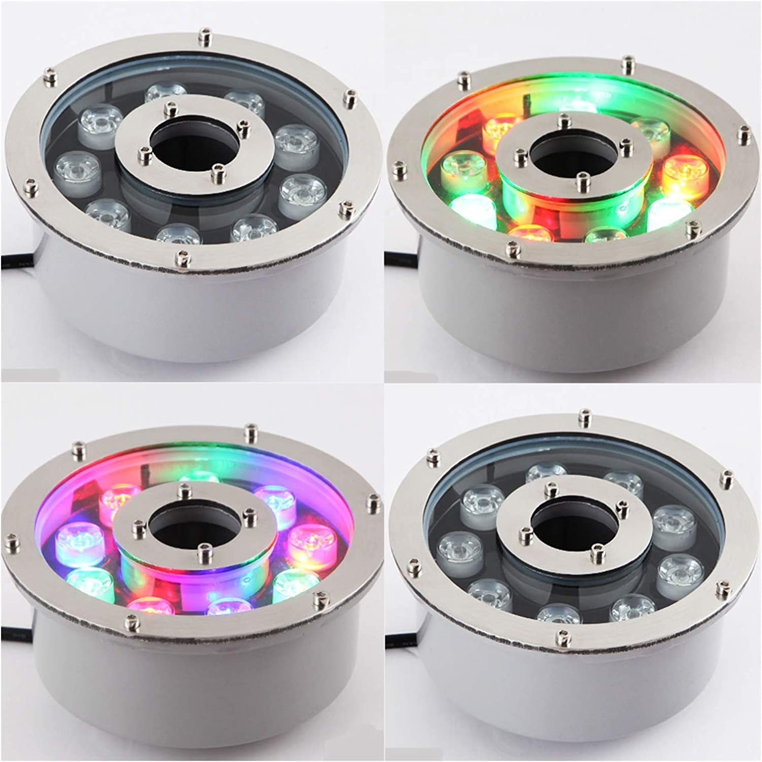 BDSHL LED Underwater Atlanta Mall Free Shipping Cheap Bargain Gift Light Low IP68 Round Voltage 12V Waterproof