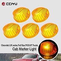 Facaimo 12V Universal 10 LED Clearance Double Bubble Bullseye Light Trailer 2PCS Amber 4 Side Fender Marker Light