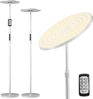 Lampadaire sur Pied LED, EEIEER Lampe sur Pied Moderne à LED Salon Chambre Lampadaire LED avec Bouton et Télécommande, 30W...