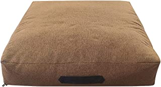 Mellifluous Small Size Dog and Cat Flat Pet Bed, Golden