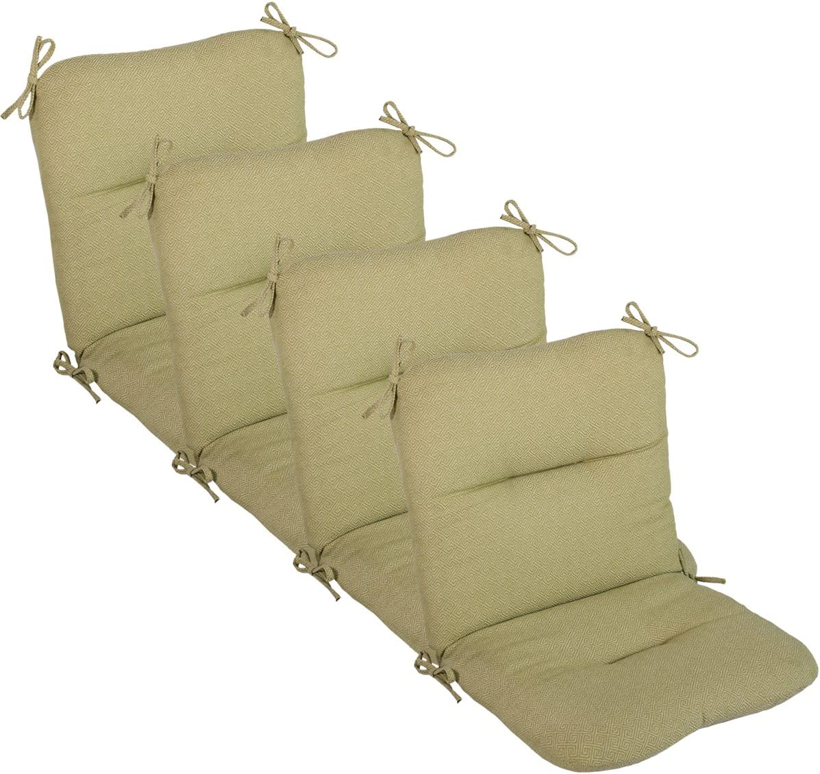 comfort classics inc set of 4 outdoor chair cushions 20 x 36 x 3 h 19 in outdura fabric wasabi made in usa