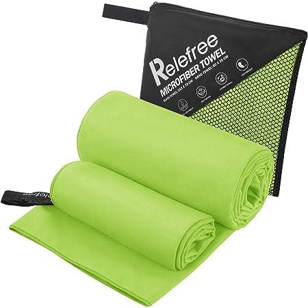 2 packs GREEN Travel towel microfiber