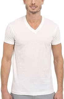 Men's 100% Pima Cotton 4-Pack V-Neck T-Shirts