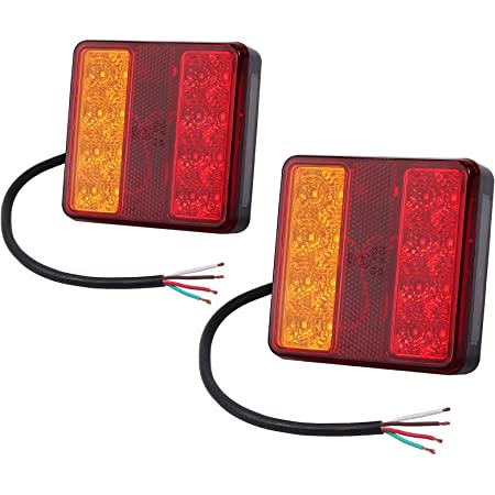 Hillfield 2 Universal Rücklichter Rückleuchten Für Kfz Anhänger Inkl Leuchtmittel Auto