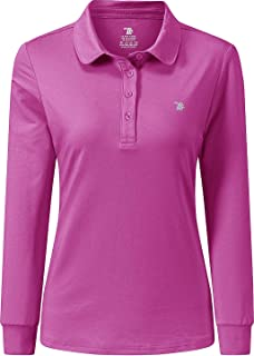 Women's Golf Polo Shirts Long Sleeve Slim Fit Athletic Shirts Cotton Fleece Warm Sports Tops for Tennis Work Business