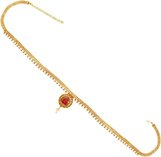 ACCESSHER Traditional Golden & Pink Kamarband