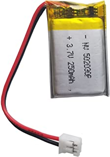 Lithium Ion Polymer 3.7v Rechargeable Battery 250mAh 2-pin PH-2P Connector 502030 by Atomic Market