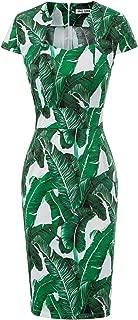 Women's 50s Vintage Pencil Dress Cap Sleeve Wiggle Dress CL7597