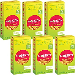 Modern Table Gluten Free, Complete Protein Mac & Cheese Lentil Elbows, Classic Cheddar, 6 Count