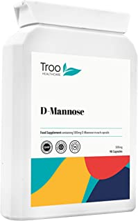 D-Mannose (500mg) Supplement - 90 Capsules   UK Manufactured