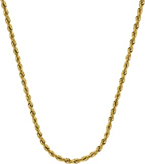 ROPE CHAIN, 10KT GOLD DIAMOND CUT ROPE CHAIN 2.70 MM WIDE, 22 INCHES LONG